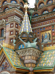 Architectural detail of St. Basil cathedral, Moscow