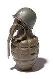 Grenade Soldier on White