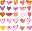 Trendy hearts