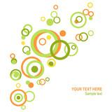 Circle spring abstract - 11337180
