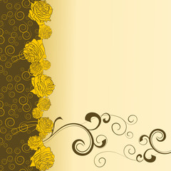 yellow roses backdrop
