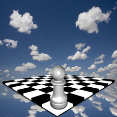 Pawn on chessboard