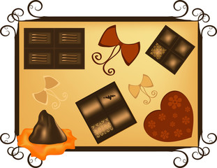 Swiss Chocolate - Valentine's Day greeting card