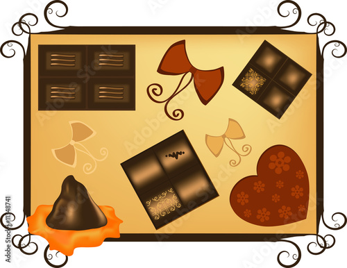 Swiss Chocolate - Valentine's Day greeting card