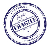 Grunge office stamp with the word fragile poster