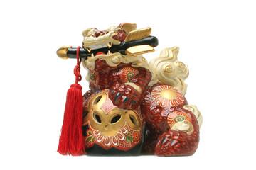 Japanese Shi-Shi Guardian Figurine