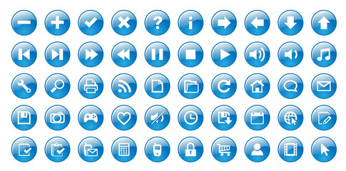 Web buttons (blue)