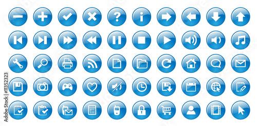 Web buttons (blue)
