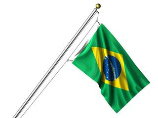Isolated Brazilian Flag