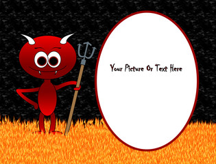 Little Devil In Hell Frame - St Valentines / Halloween