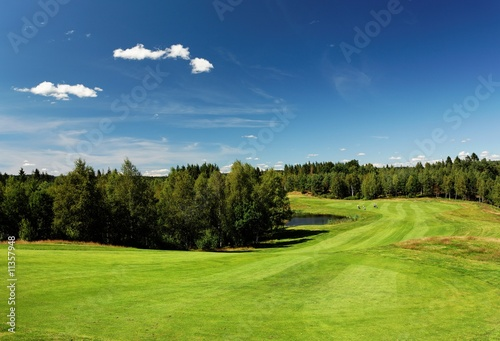 Wide open view at Bäkvattnets golf course in Sweden