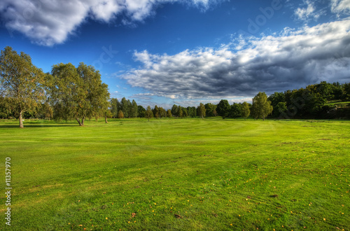 Autumn scenery on Ronneby golf course in Sweden