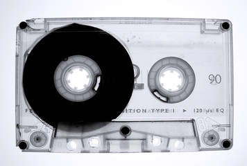 Audio tape cassette isolated