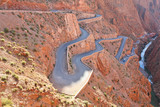 Winding road in Atlas Mountains, Morocco poster
