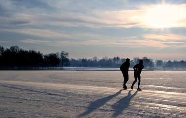 Ice skater Sunrise