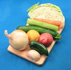 Vegetable prep end angle view