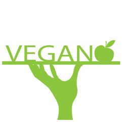 vassoio di portata vegan