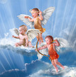 Quadro Baby cupid with angel wings