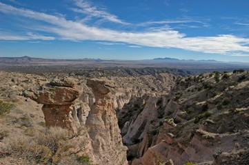 View of Canyons, Tent Rocks National Monument