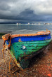 Old colorful fishing boat