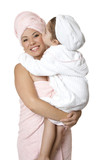 Mother and child - beauty,  bath,  bodycare poster