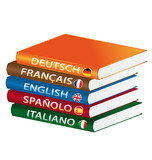 Languages books poster
