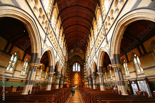 inside St Mary's Cathedral, Sydney, New South Wales, Australia