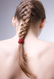 Hair with plait poster