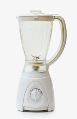 Kitchen white blender with clipping path