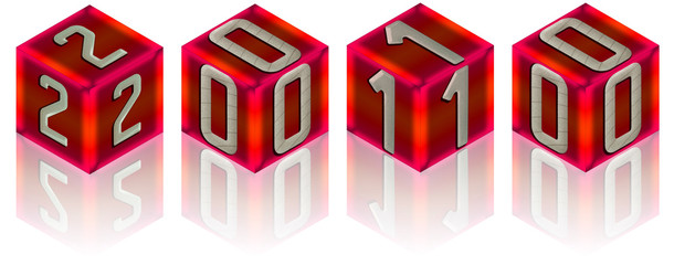 2010 sur des cubes rouges