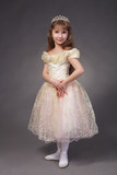 A cute little girl dressed up as a princess with tiara