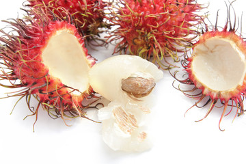 rambutan fruit from tropical country