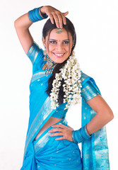 indian woman in dancing pose
