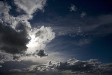 Clouds in stormy sky