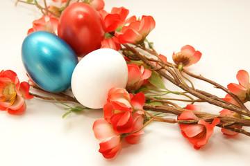 oeufs et fleurs