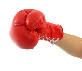 Punch with red boxing glove