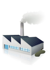 Usine polluante (reflet)