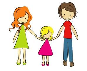 collection fille et ses parents