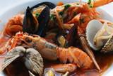 Fototapety Busara di scampi e frutti di mare  - Secondi Istria