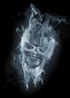 Leinwandbild Motiv Skull - smoke