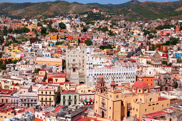 beautiful city Guanajuato in Mexico