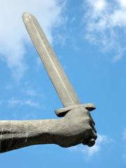 Hand mit Schwert
