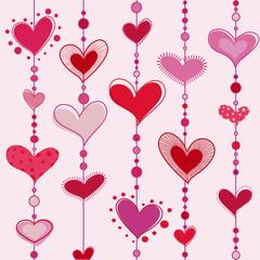heart tiles vector