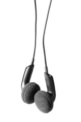 Black isoladed headphones.