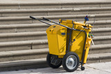 Mobile Industrial Clean Up Cart poster