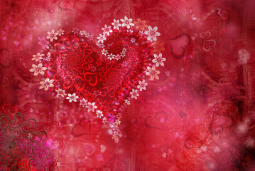 St. Valentine''s day texture