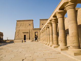 Isis Temple of Philae Island. Egypt series
