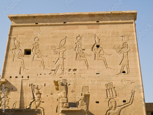 Isis Temple of Philae Island. Egypt series