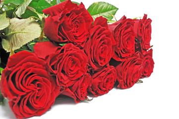 nice bouquet red roses