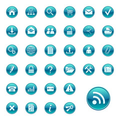 Web icons, buttons. Round series